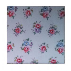 Ceramic Wall Tiles Made With Cath Kidston Tea Rose White